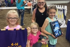 (2/9) Gauck Family Livestock has a multiple WINs at the Indiana State Fair: Grand Champion Meat Pen Rabbits, Grand Champion; Roaster, and Reserve Grand Champion; Stewed. They use and love Blue Gold Grand Champion!